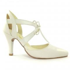 Sapato 17662 em couro Marfim