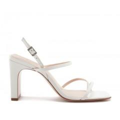 Sandália 20620 em couro branco