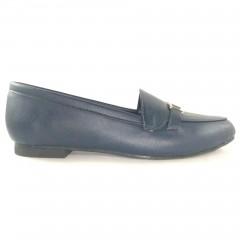 Sapato Mocassim 20615 em couro Marinho