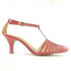Sapato 20603 em couro Vermelho