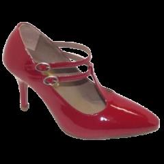 Feito Pra Você * Sapato 16622 em verniz Vermelho