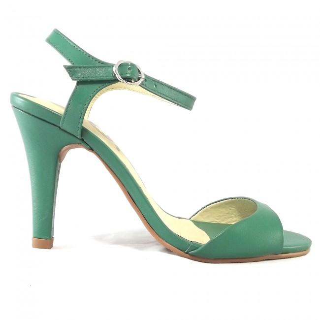 Sandália 17658 em couro Verde